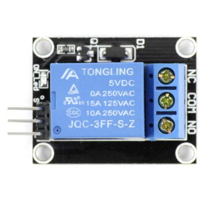 1-канальный модуль реле JQC-3FF-S-Z с крепежными отверстиями
