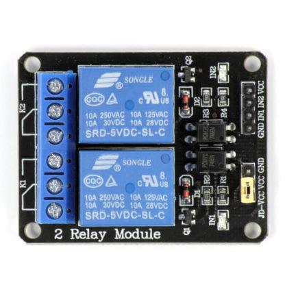 2-канальный модуль реле SRD-5VDC-SL-C