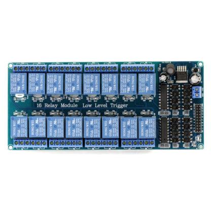 16-канальный модуль реле JQC3F-12VDC-C