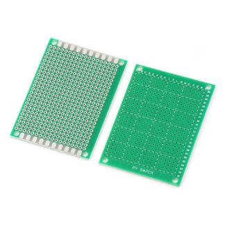 Монтажная плата 5×7 см односторонняя (зел.)