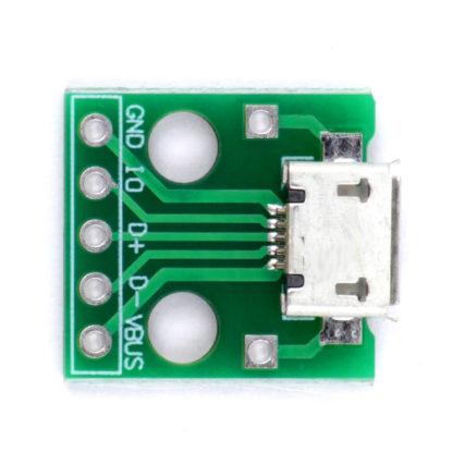 Разъем micro USB на плате