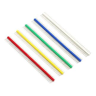Цветные контакты для пайки 40 шт (прямые)
