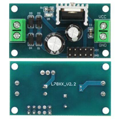 Модуль стабилизатора напряжения на LM7812 (Вход: 15-24 В, Выход: 12 В, 1.5 А)