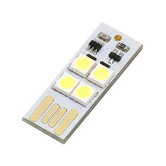 USB светодиодный фонарик 0.45W с сенсором