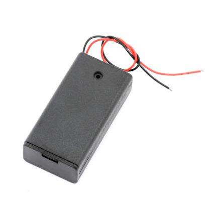 Батарейный отсек 2xAA с крышкой и выключателем