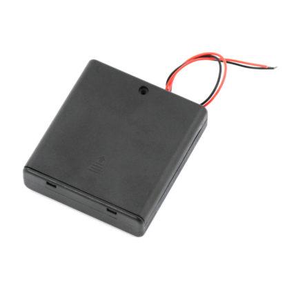 Батарейный отсек 4xAA с крышкой и выключателем