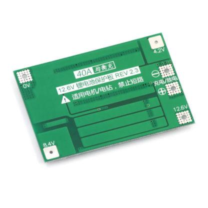 BMS плата контроля 3-х аккумуляторов 18650, 40 А