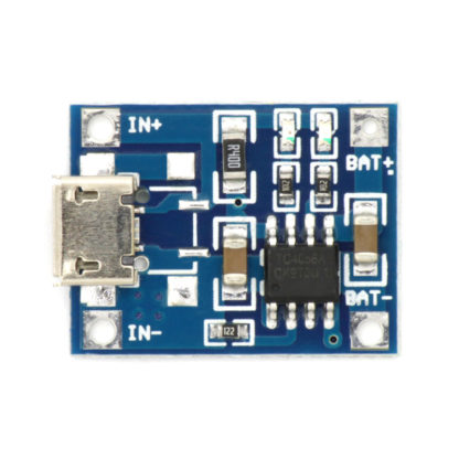 Модуль зарядки Li-ion аккумуляторов на TP4056 (1 А)