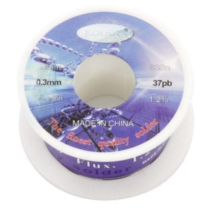 Припой-катушка 63/37, 0.3 мм (30 г)
