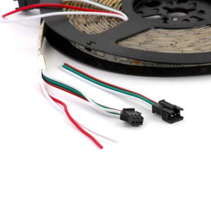 Цветная адресуемая светодиодная лента WS2811 (12 В, IP65, 60 св/м)