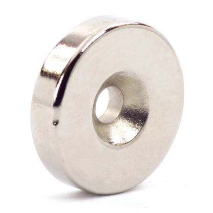 Неодимовый магнит N35 25x6 мм с отверстием