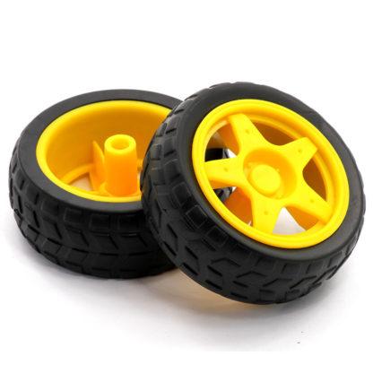 Пластиковое колесо с шиной (65 мм)