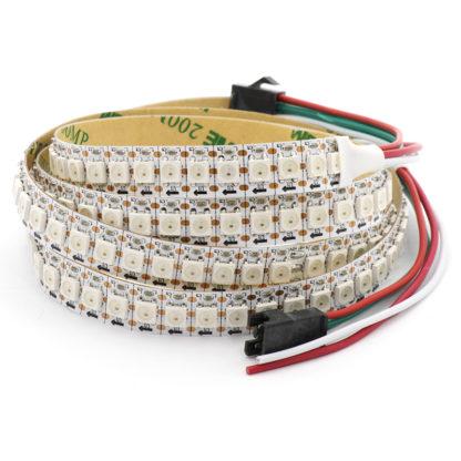 Цветная адресуемая светодиодная лента WS2812 (5 В, IP30, 144 св/м) - 1 метр