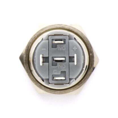 Металлическая кнопка с подсветкой 16 мм (5 В)