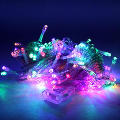 Новогодняя гирлянда (10 м, 100 LED) – Прозрачный провод