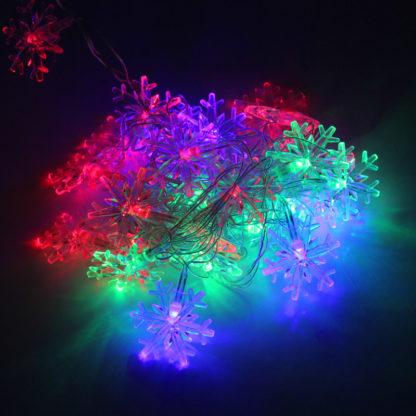 Новогодняя гирлянда (5 м, 28 LED) – Снежинки